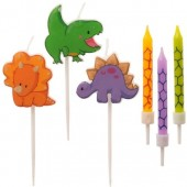Dekora Dinosaur Mixed Candles Pk/6