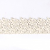 Ready Made Pearl Cake Lace Strips-Floral Pk/1