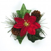 Poinsettia & Ivy Spray