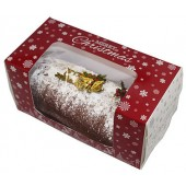 Log Christmas Snowflakes Cake Box