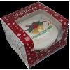 """6"""" Christmas Snowflakes Cake Box 4"""" High"""