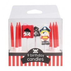 Pirate Candles Pk/9