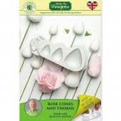 Flower Pro Rose Cones & Thorns Silicone Mould