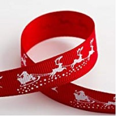 15mm Santa's Sledge Ribbon - 5m Roll