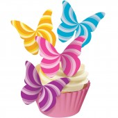 Squires Edible Wafer Butterflies - Candy Swirls