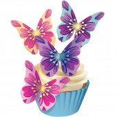 Squires Edible Wafer Butterflies - Floral Bursts