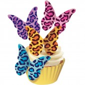 Squires Edible Wafer Butterflies - Leopard Print