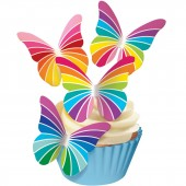Squires Edible Wafer Butterflies - Rainbows