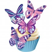 Squires Edible Wafer Butterflies - Fantasy Cool Tones