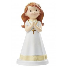 Communion Girl Cake Topper with Hairband