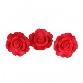 50mm Strawberry Red Sugar Soft Roses Pk/10