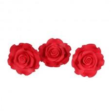 50mm Strawberry Red Sugar Soft Roses Pk/10