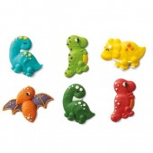 Decora Dinosaur Sugar Decorations Pk/6