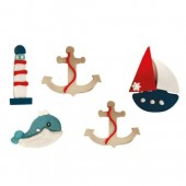 Decora Set Sailing Decorations Pk/5