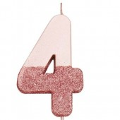 Rose Gold Dipped Glitter Candle - 4
