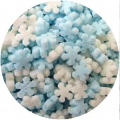 Mini Blue & White Sugar Snowflakes 60g