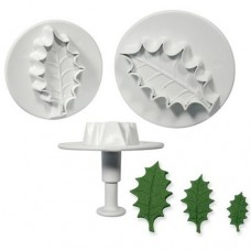 PME Large Veined Holly Leaf Plungers Set/3