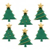 Christmas Tree Sugar Decorations Pk/6