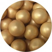 10mm Glimmer Gold Choco Balls 80g