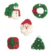 Culpitt Assorted Christmas Sugar Pipings Box/250