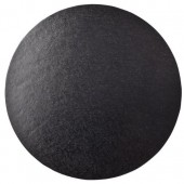 """10"""" Round Double Thick Card - Black"""