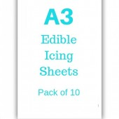 A3 Edible Icing Sheets Pk/10