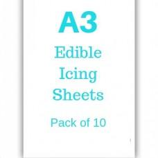 A3 Edible Icing Sheets Pk/10