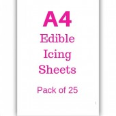 A4 Edible Icing Sheets Pk/25