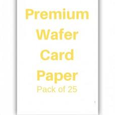 Premium Wafer Card Paper Pk/25
