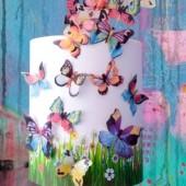 Crystal Candy Fiesta Wafer Butterflies Pk/22