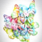 Crystal Candy Colour Splash Wafer Butterflies Pk/22