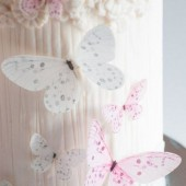 Crystal Candy Delicate Pink Wafer Butterflies Pk/22