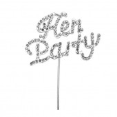 Diamante 'Hen Party' Topper