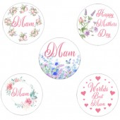 Floral Mother's Day Cupcake Toppers - 15 x 2""