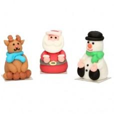 FunCakes 3D Sugar Christmas Figures Pk/3