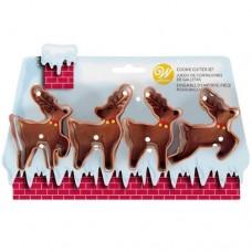 Wilton Reindeer Cutter Set of 4