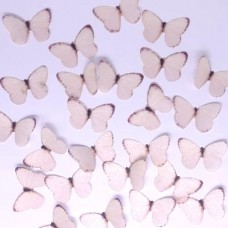 Crystal Candy Pastel Orange Wafer Butterflies Pk/22