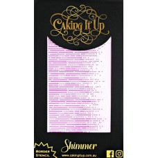 Caking It Up Stencil - Shimmer