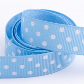 Blue Dot Grosgrain 15mm x 10m Roll