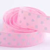 Pink Dot Grosgrain 15mm x 10m Roll