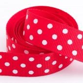 Red Dot Grosgrain 15mm x 10m Roll