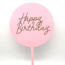 Pink Happy Birthday Paddle - Acrylic