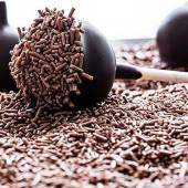 Dark Chocolate Glossy Vermicelli - 1kg