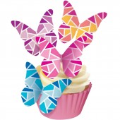 Squires Edible Wafer Butterflies - Geometric Shards