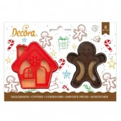 Decora Gingerbread Man & House Cookie Cutters