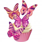Squires Edible Wafer Butterflies - Fantasy Warm Hues