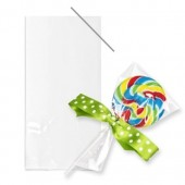 Cookie/Lollipop Cello Bags Clear with Twist Ties