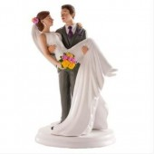 Wedding Couple In Arms Cake Topper