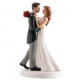 Wedding Couple Waltzing Cake Topper