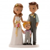 Wedding Couple with Boy Cake Topper